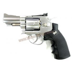 ปืนลูกโม่ 2.5 นิ้ว Magnum อัดแก๊ส Co2 สีเงิน - WinGun 708s