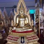 พระพุทธชินราช5นิ้ว เนื้อทองเหลืองปิดทองแท้ หน้าตัก 5 นิ้ว ออกโดยวัดใหญ่พิษณุโลก มีพุทธลักษณะที่งดงาม พิธีมหาพุทธาภิเษกรหัส0157