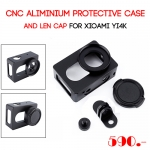CNC Aliminium Protective Case and Len Cap for Xiaomi Yi 4k