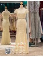 รหัส ชุดราตรียาว : PF023 ชุดราตรียาว สีครีม มีเพรชประดับที่เอว เหมาะใส่ออกงานกลางคืน งานแต่งงาน งานกาล่าดินเนอร์ งานเลี้ยง งานพรอม งานรับกระบี่