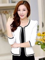 เสื้อคลุมพิธีการ ใส่ทำงานสวย หวาน เรียบหรู -สีขาว