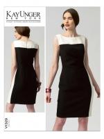 แพทเทิร์นตัดเดรสสตรี งานดีไซน์เนอร์ Vogue 1329 Size: 8-10-12-14-16