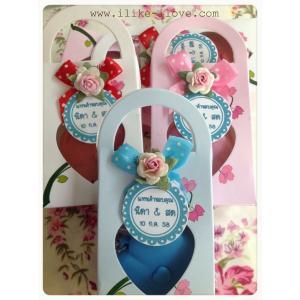 ตลับเมตรรูปหัวใจกล่องกระเป๋าลายดอกไม้