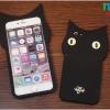 iPhone 6 Plus, 6s Plus - เคสซิลิโคน แมวดำ 3D