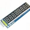 Eight digital tube module LED display Eight serial 595 drivers พร้อมสายไฟ