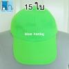 15ใบ สีเขียว ฟรีไซส์ ราคาถูก หมวกกีฬาสี