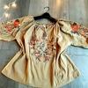 เสื้อรูดเชือกแต่งพู่ สไตล์วินเทจ งานปักละเอียด ใส่สวย สบาย ๆ