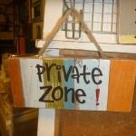 ป้ายแต่งบ้าน Private zone