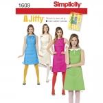 แพทเทิร์นตัดเดรสสตรี Simplicity 1609R5 ไซส์ใหญ่ Size: 14-16-18-20-22 อก 36-44 นิ้ว