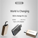 Type-C OTG Adapter Remax RA-OTG1 (USB Type-C / Android) แท้