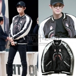 JACKET BOMBER A BATHAING APE SOUVENIR SHARK Sty.Chanyeol -ระบุไซต์-
