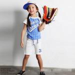 เสื้อ+กางเกง สีฟ้า แพ็ค 5ชุด ไซส์ 100-110-120-130-140
