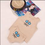 เสื้อ+กางเกง สีครีม แพ็ค 4 ชุด ไซส์ 80-100-110-120 (เลือกไซส์ได้)