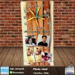 006-สกรีนรูปลงโลหะ Photo Steel Clock 10x25cm
