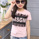 เสื้อ สีชมพู แพ็ค 5 ตัว ไซส์ 120-130-140-150-160