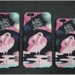 iPhone 6 Plus, 6s Plus - เคสปิดขอบ ลายนกฟลามิงโก (Greater flamingo)