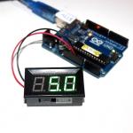LED Voltage Meter Mini Digital Voltmeter DC 5-28V สีเขียว