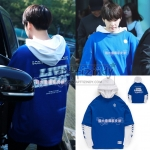 Hoodie BORN CHAMPS LIVE LARGE LAYERED BLUE Sty.SUGA-ระบุไซต์-