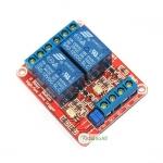 บอร์ด Relay 2 ช่อง 12 โวลต์แบบ Active Hight 10A 250V สำหรับ Arduino และ Microcontroller Active High/ Active Low