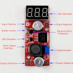 LM2596 DC-DC Adjustable Step-Down Power Supply Module buck converter Red LED display Voltmeter/ Button Switch