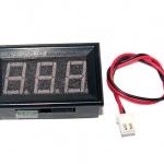 LED Voltage Meter Mini Digital Voltmeter DC 5-28V สีขาว