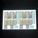 Sticker Arduino สติกเกอร์ตำแหน่งขา บอร์ด Arduino Uno จำนวน 2 ชิ้น