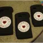 iPhone 5, 5s, SE - เคสซิลิโคน ลายโทรศัพท์หมุน