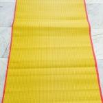 เสื่อวัด เหลืองแดง กุ๊นขอบ 0.9*8 เมตร ผืนละ 380 บาท ส่ง 10ผืน
