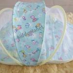 ชุดที่นอนเด็กอ่อนพร้อมมุ้ง (สีฟ้า)