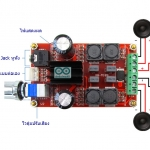 TPA3116D2 Amplifier Stero 50Wx2 Class D บอร์ดเครื่องขยายเสียงแบบ Stero 50W+50W คลาส D