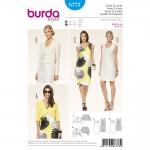 แพทเทิร์นตัดเดรสทำงาน เสื้อคลุม ยี่ห้อ Burda Style (6773) ไซส์: 8-10-12-14-16-18