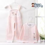 เสื้อ+กางเกง สีชมพู แพ็ค 6 ชุด ไซส์ 73-73-80-80-90-90