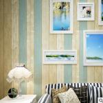 Wallpaper 3มิติ ลายไม้เมดิเตอร์เลเนียม Wall-WE02 สีไม้ฟ้า