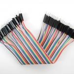 สายไฟ จัมเปอร์ Jumper Wire สายแพ ขั้ว ผู้-ผู้ ยาว 20cm 40 เส้น