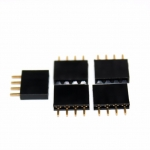 1x4 pin header 2.54mm PCB Female Header Single Row Straight Copper Pin จำนวน 5 ชิ้น