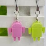 Android การ์ดรีดเดอร์ Mini Android Robot USB 2.0 TF Micro SD Card Reader คละสี