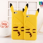 iPhone 5, 5s, SE - เคสซิลิโคน Pikachu หูตั้ง (Pokemon)