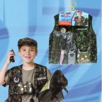 ชุดทหาร(เฉพาะเสื้อกั๊ก)+อุปกรณ์ตามรูป แพ็ค 3 ชุด ฟรีไซส์ (เหมาะสำหรับ 3-8 ขวบ)