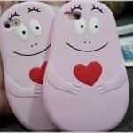 iPhone 6 Plus, 6s Plus - เคสซิลิโคน 3D Barbapapa