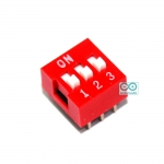 DIP switch DIP 2.54mm สวิตช์แบบ DIP ระยะห่างระหว่างขา 2.54mm ขนาด 3 ช่อง
