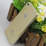 สติ๊กเกอร์สีทอง IPhone 5 เปลี่ยนเป็น IPhone 5S เฉดทองอ่อน