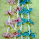 พวงมารัย ดอกไม้ พลาสติก ฮาวาย หลากสี-ดอกรัก+ดอกลีลาวดี และอื่นๆ
