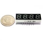 "7 Segment 0.28"" Common Cathode 4 digit Clock Red ไฟ 7 segment 0.28"" 4 หลักพร้อมจุดนาฬิกา สีแดงแบบไฟลบร่วมa2481AH"
