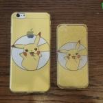 iPhone 5, 5s, SE - เคสใสลายปิกาจู Pikachu Circle Pokemon