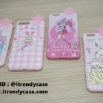 iPhone 7 - เคส TPU ลาย Pink Girl ดาว 3D