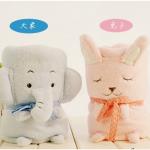 ผ้าห่มตุ๊กตา ลายกระต่าย สีชมพู แพ็ค 5 ผืน ขนาด 90 * 60 cm