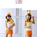VIVO- BINIYA ชุดว่ายน้ำ+หมวก แพค 5ชุด ไซส์ 90-100-110-120-130