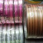 ริบบิ้นห่อเหรียญขอบทอง ตรา TW ยาว50 หลา แพ็ค 10 ม้วน