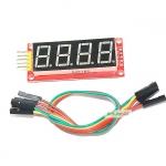 """โมดูลแสดงค่าตัวเลข 4 หลัก Four digital tube module LED display ขนาด 0.56"""" 74HC595 Driver"""