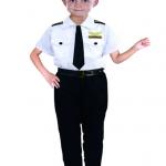 ชุดตำรวจ เสื้อ+กางเกง+เนคไท+เข็มขัด+หมวก แพ็ค 2 ชุด ไซส์ M-L สำ